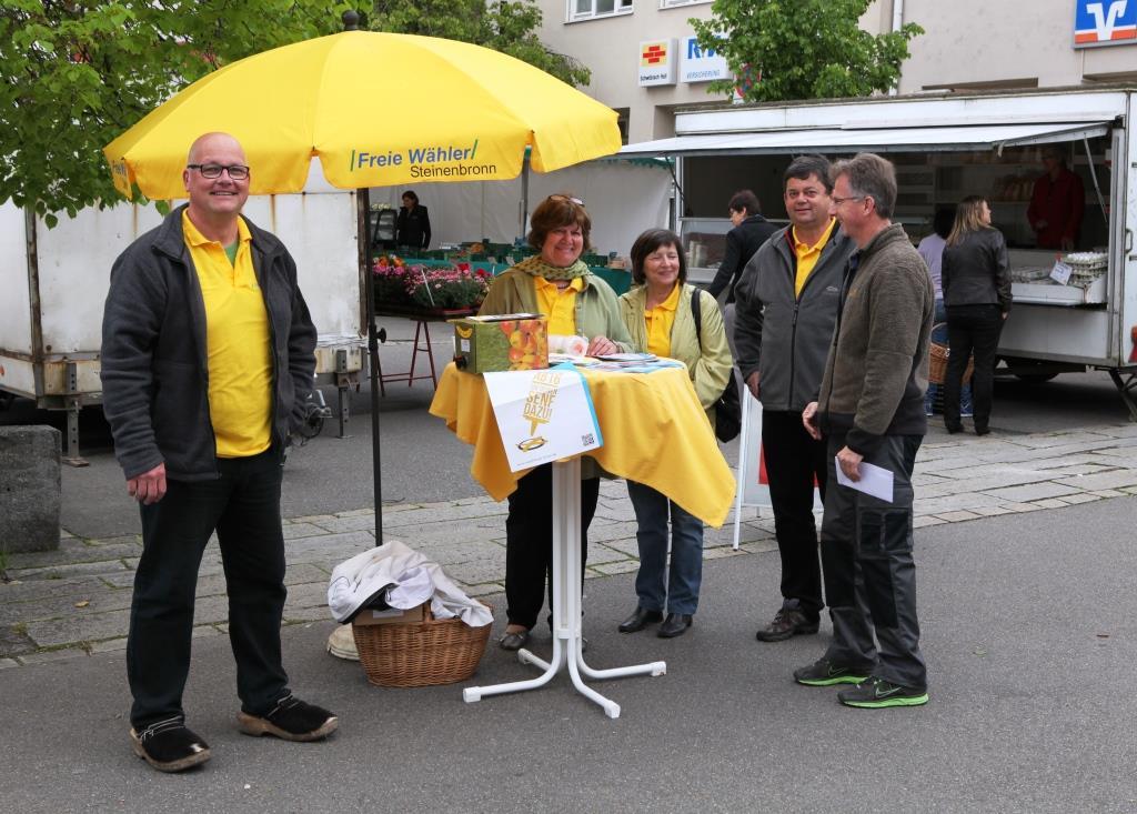 Die Freien Wähler Samstags auf dem Marktplatz
